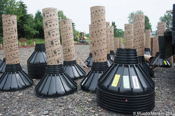 Plastic Footing Form Concrete Forming Tube Home Building Construction Foundation Business & Industrial Concrete Stamps, Forms & Mats